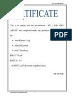 Rti Presentation Report