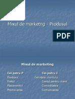 Curs 9 - Mixul de Marketng - Produsul