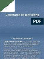Curs 6 - Cercetarea de Marketing