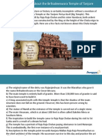 Interesting Facts About the Brihadeeswara Temple of Tanjore