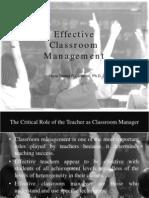 1 Effective Classroom Management-Dr Calderon