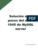 Error 1045