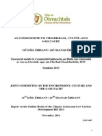Report on Heads of Climate Action & Low Carbon Development Bill 2013