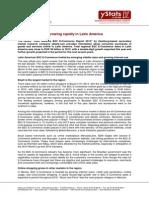 Press Release_Latin America B2C E-Commerce Report 2013