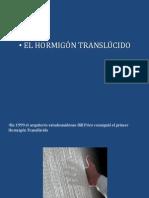 hormigon translucido