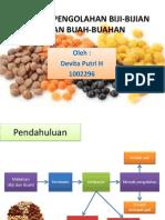 Teknik Pengolahan Biji-bijian Dan Buah-buahan