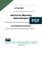 OUR (Jamaica), Electricity Wheeling Methodology, Consultation Docuiment, Dec. 2012