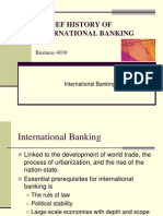 Brief History of International Banking