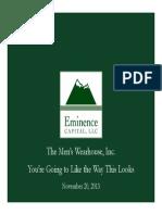 Eminence CapitalMen's Warehouse