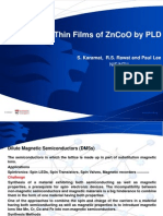 Bulk and Thin Films of ZnCoO by PLD