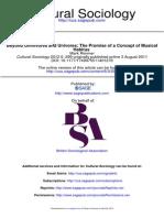 Cultural Sociology 2012 Rimmer 299 318