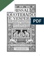 Missal Quotidiano e Vesperal - Dom Gaspar Lefebvre