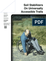 soil stabilisers on universally accessible trials
