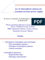 Characteristics of Atmospheric Plasma Jet Produced by Resonant Inverter Power
