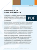 product liability in europe