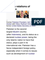 Pakistan Foreign Relations