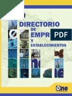 Directorio de Establecimientos Economicos 2010p