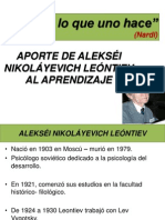 Aporte de LEONTIEV Al Aprendizaje 14-11-13