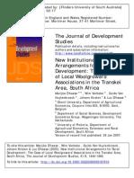 New Institutional Arrangements for Rural Development