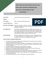 Archive Assistant (CERC) JD 2013