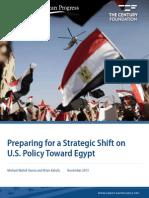 Preparing for a Strategic Shift on U.S. Policy Toward Egypt