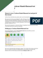 73 Running a Cochran-Mantel-Haenszel Test With XLSTAT