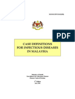 Case Definitions for Infectious Diseases in Malaysia 2nd Edition Jan 2006