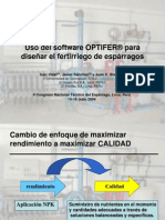 Uso del software Optifer para diseñar la fertirrigación del
