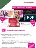 Responsible Business Awards 2014 - Workshop Presentation