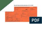 Povratnica koja potvrđuje primitak podneska od 13 11 2013