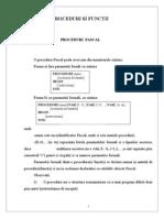 Proceduri Si Functii - Proceduri Pascal