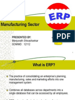ERP-A Manufacturing Perspective