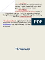 Thrombosis Hemostasis