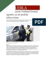 19-11-2013  Milenio.com - Reestructuran Vialidad Estatal; agentes ya no podrán infraccionar