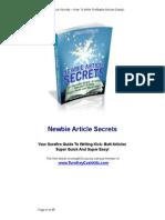 Newbie Article Secrets