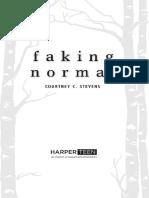 Faking Normal Excerpt