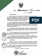 RM 431.Desarrollo del AñoEscolar 2013