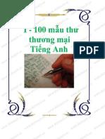 100 Mẫu thư thương mại tiếng Anh