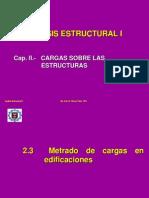 2.3 Metrado de Cargas en Edificaciones I