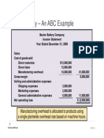 Activity Based Costing (Example)