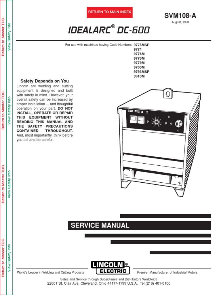 lincoln dc wiring diagram lincoln wiring diagrams lincoln idealarc dc 600 welding electric arc