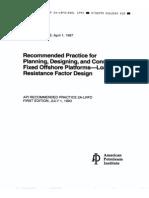 API RP 2A-LRFD - Offshore Platform Loading
