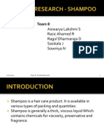 Product Research - Shampoo