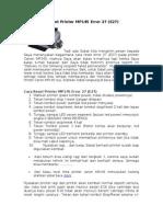 Cara Reset Printer MP145 Error 27