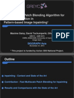 A Fast Spatial Patch Blending Algorithm for Artefact Reduction in Pattern-based Image Inpainting
