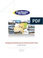 Integrated Marketing Communications Plan for Carbone Auto Group