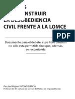 APUNTES PARA CONSTRUIR LA DESOBEDIENCIA CIVIL FRENTE A LA LOMCE