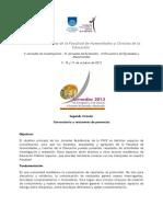 Segunda circular Jornadas Académicas FHCE 2013 (1)