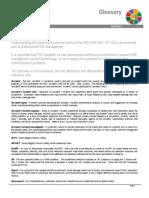 PDO Glossary