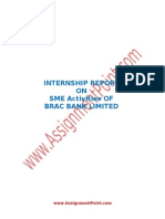 Internship Report on SME Activities of BRAC Bank Limited
